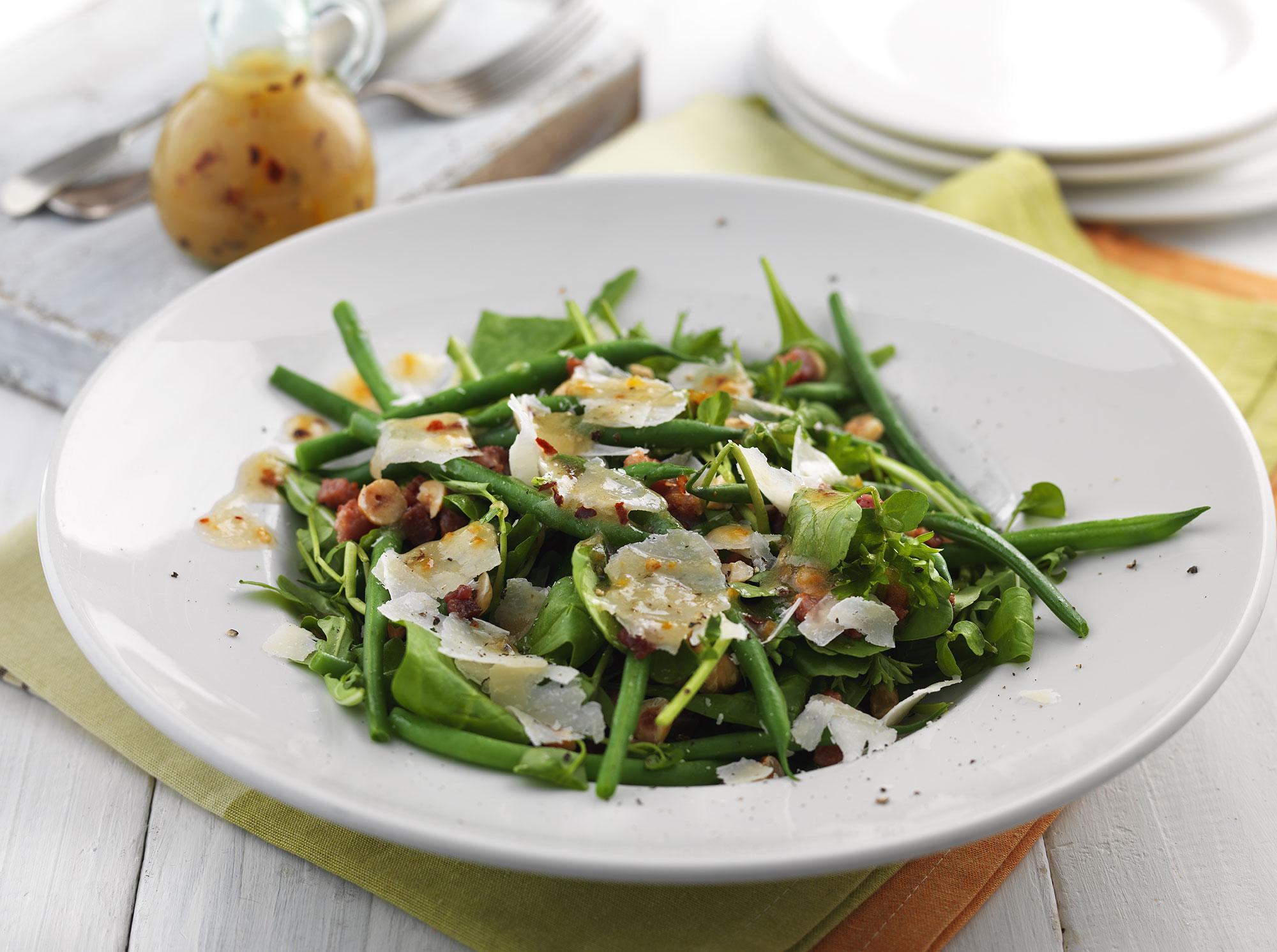 Spinach, Pancetta and Pecorino Salad